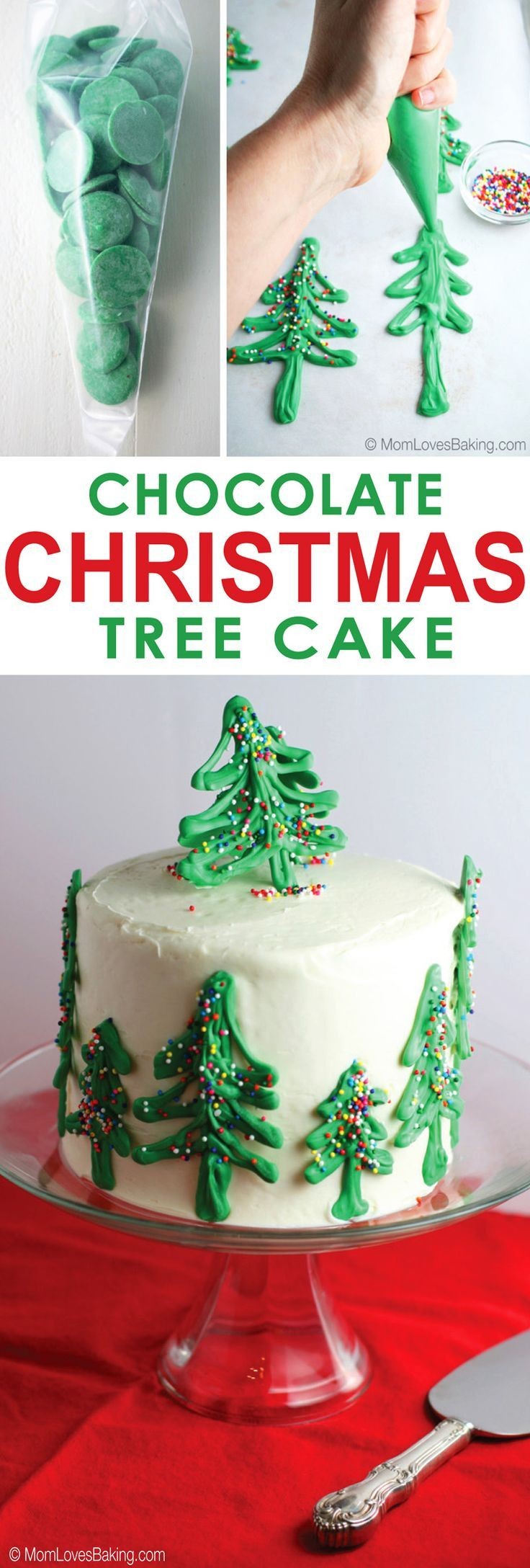Need a fabulous dessert for the Christmas party? How about this Chocolate Christmas Tree Cake. It's simple to make and your friends will be so impressed!‬