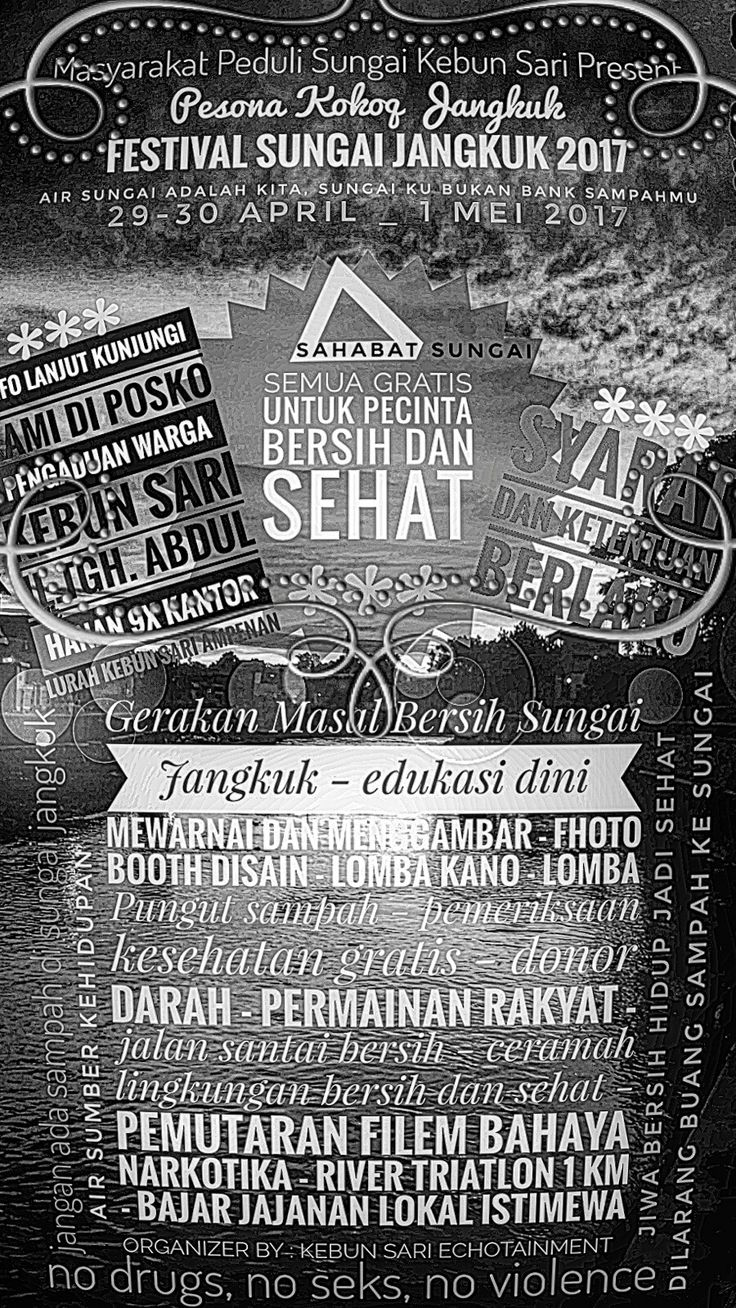 Festival Sungai Jangkok Mataram - Lombok #airsungaiadalahkita #festivalsungaijangkuk2017mataramlombok #restorasisungailombok #destinasiwisataair