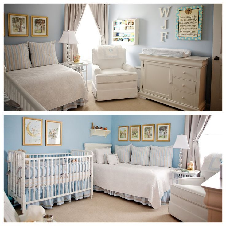 Image result for nursery layout with twin bed