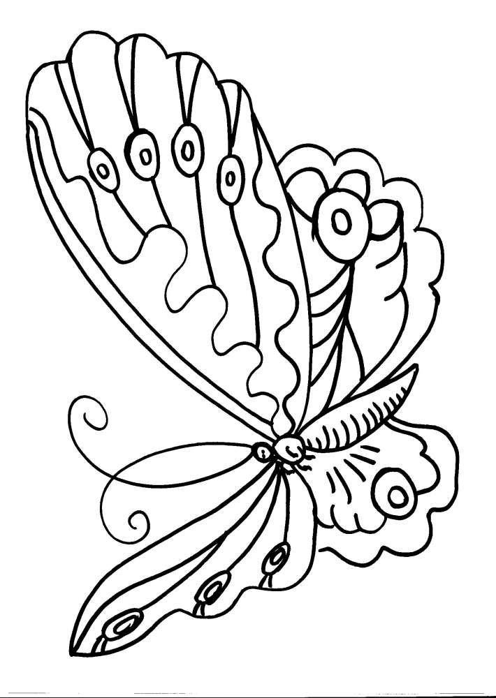 Disegni Animali Da Colorare Farfalla Disegno Farfalla Da Colorare