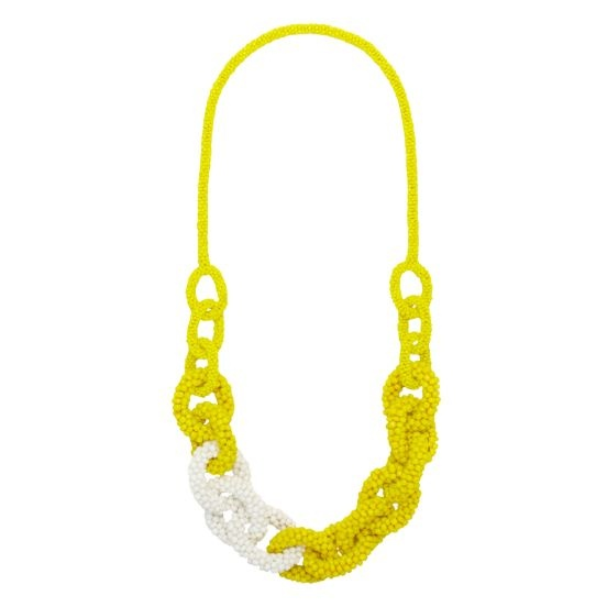Kate Spade hand in hand beaded links necklace: Spade Beaded Links, Hands, Color, Kate Spade Beaded, Katespade