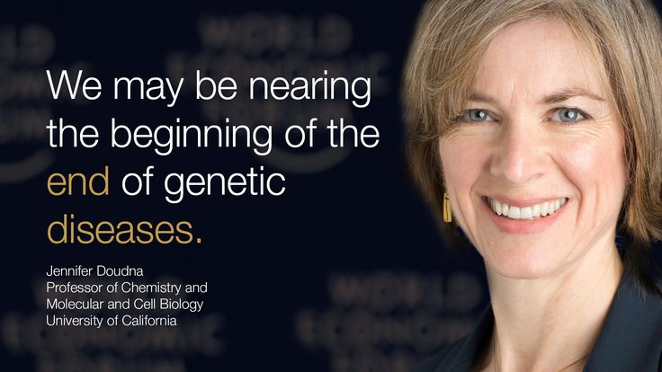 We may be nearing the beginning of the end of genetic #diseases. - Jennifer Doudna in #Davos at #wef15