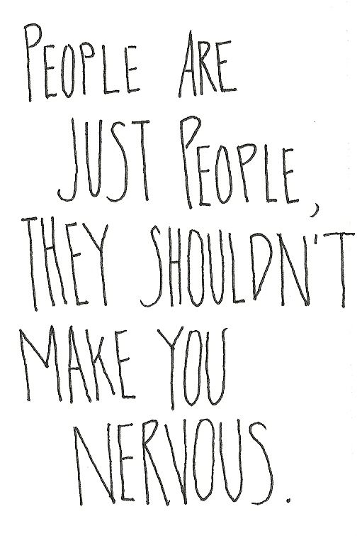 people are just people...