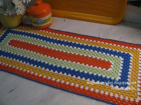 Magia do Crochet: Passo a passo para o início das colchas e naperons coloridos
