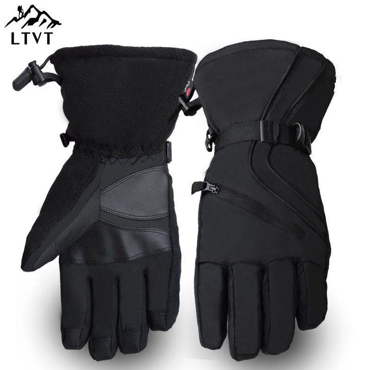 Men's High End Professional Ski Gloves Winter Warm Bicycle Riding Gloves Non Slip Riding Gloves Skateboard Gloves