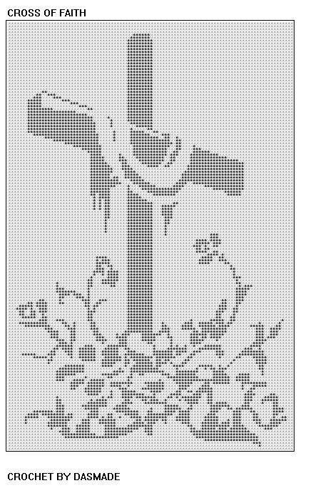 Filet Crochet Cross Bookmark Pattern | CROSS OF FAITH EASTER FILET CROCHET DOILY MAT WALLHANGING PATTERN