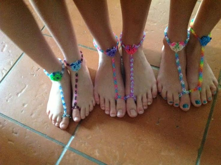how to make crazy loom sandals