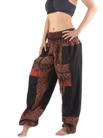 Floral Tiles High Crotch Wool Harem Pants - Forgotten Tribes - 1