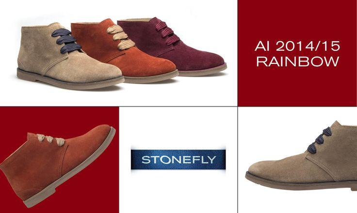 Rainbow è la nuova, coloratissima collezione di #desert #boot #Stonefly: un arcobaleno autunnale tutto da indossare!