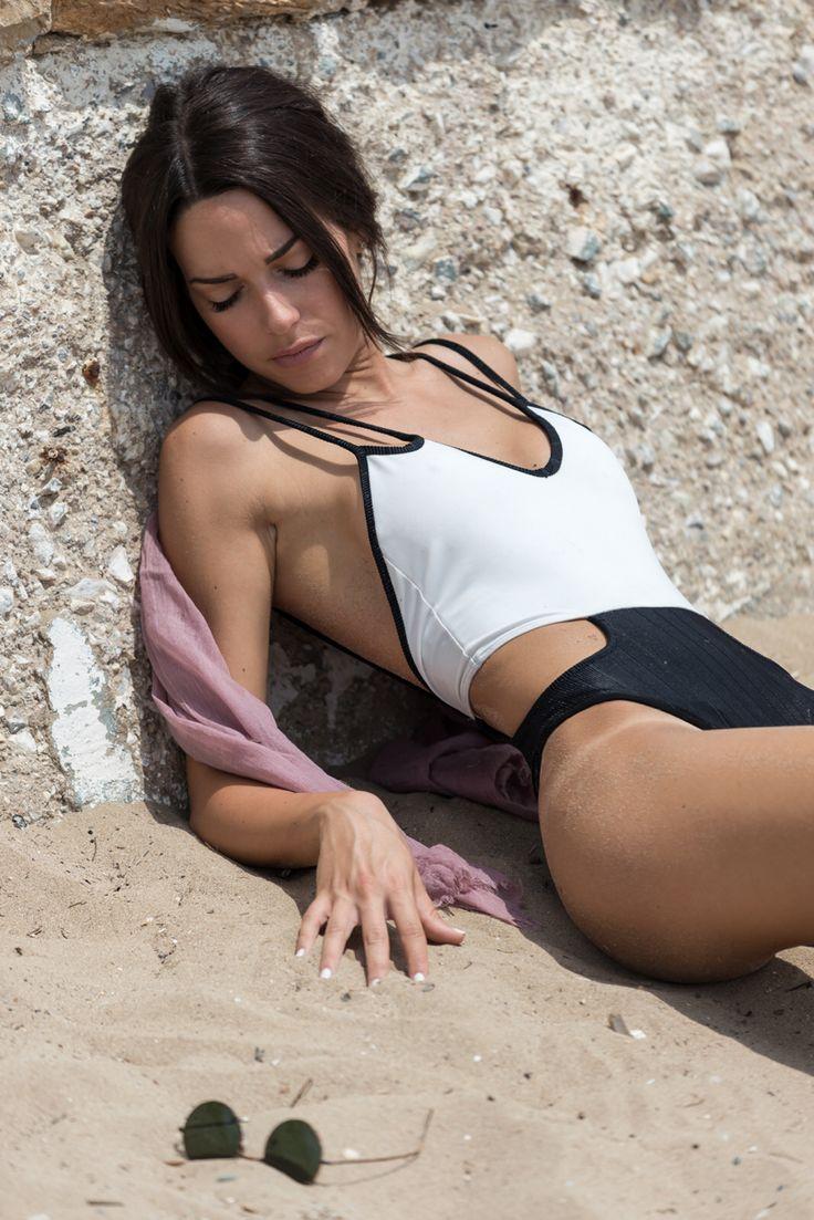 Swimsuit , black & white , ss15 , by nadia rapti