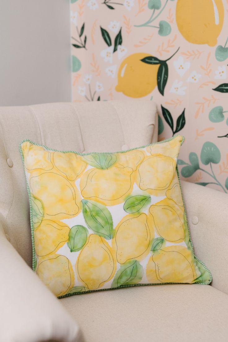 DIY Watercolour Pillows - Hello Yellow Blog
