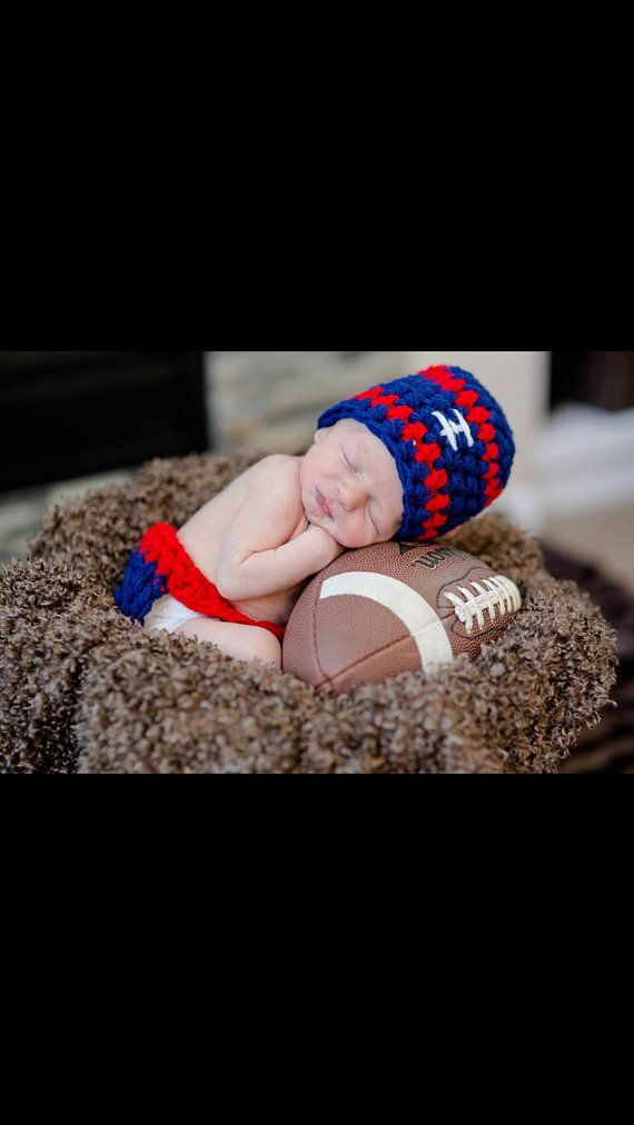 New York Giants Set hat and diaper cover NY by BellaMariesboutique, $18.00