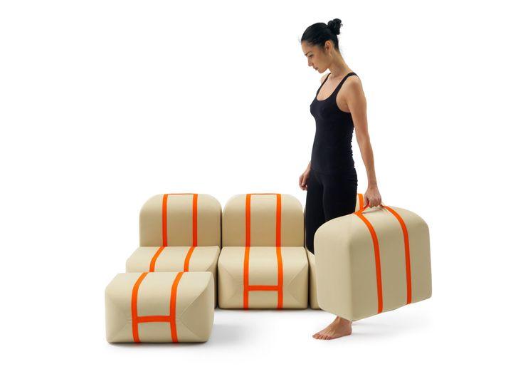 Top 10 Matali Crasset's feeling for design | Matali Crasset in 10 pieces of design | Self Made Seat, Campeggi, 2015 |  @matalicrasset
