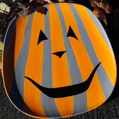 halloween pumpkin plate - Halloween Ceramic Plates