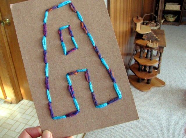 Buchstaben - Sticken