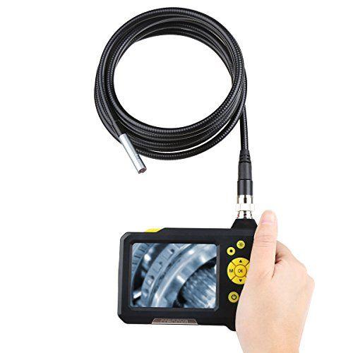 Crenova� iScope digitale waterdichte hand-held endoscoop Inspectiecamera slang-camera met 2,7 inch beeldscherm en 3 met kabel