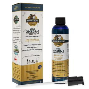 Wild Omega-3 Fish Oil Supplement for Dogs and Cats with Natural Vitamin E (8oz)