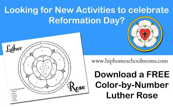 This post shares ideas and resources for Reformation Day activities.