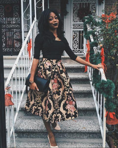 Baroque Skirt for Holidays - Galerie Des Styles & Lookbook De SheIn fr