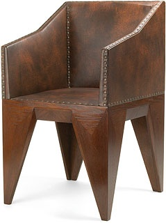 Armchair - Czech Cubism  Designer: Vlastislav Hofman  wood-oak, leather