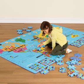 Best 25 giant world map ideas on pinterest maps diy decoupage giant world map floor puzzle sciox Image collections