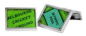 Sports Stadiums vintage street directory cufflinks in sterling silver - $150