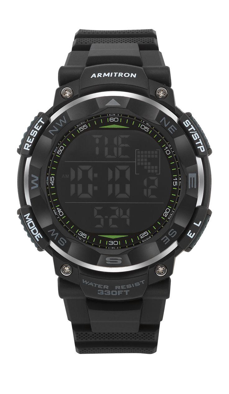 Armitron pro 53 black mens digital watches sport