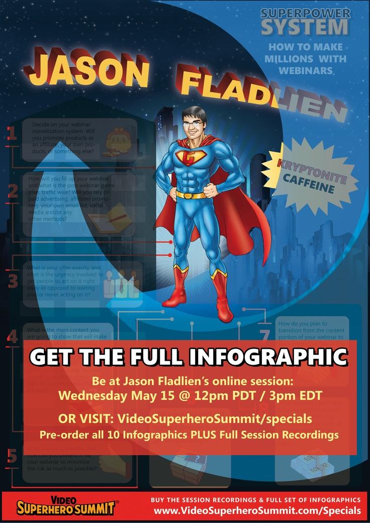 Jason Fladlien reveals how to make millions with webinars at the Video Superhero Summit. Learn more at http://www.videosuperherosummit.com