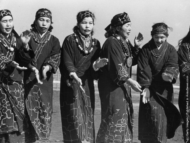 Ainu, aboriginal people of Asia occupying parts of the Japanese island ...