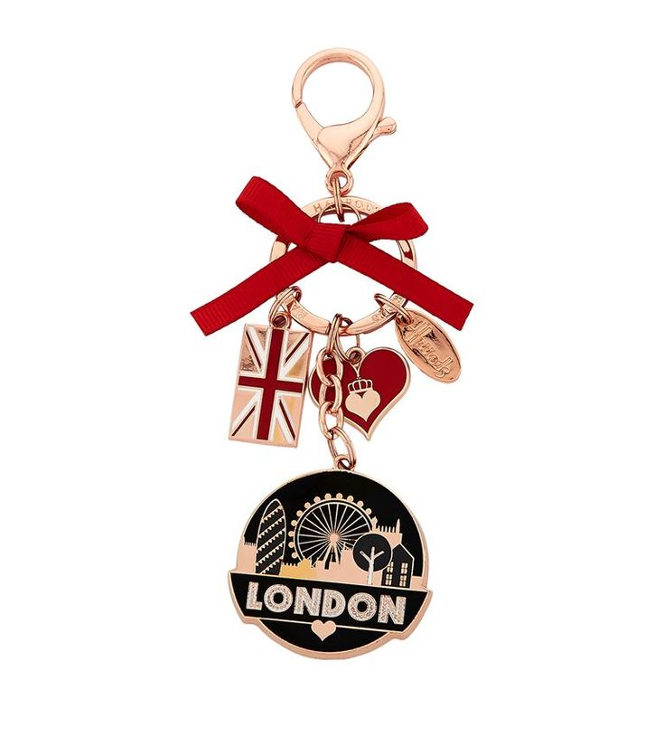 Harrods Glitter London Bag Charm | Harrods.com
