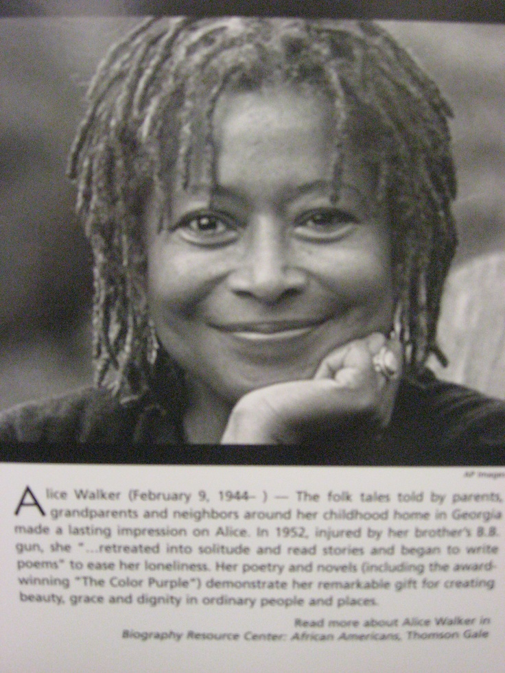 analysis of alice walkers beauty - alice walkers' poignant novel 'the color purple' depicts the cruel life of a woman named celie, broken by the anti feminist influences in her life celie eventually gained a sense of independence when journeying an exultant path of self discovery here celie realized she was an endowed, proud woman trapped inside an oppressed girl.