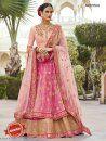 Pink Bhagalpuri Silk & Net Anarkali Lehenga - Lehengas Online Shopping - Natasha Couture