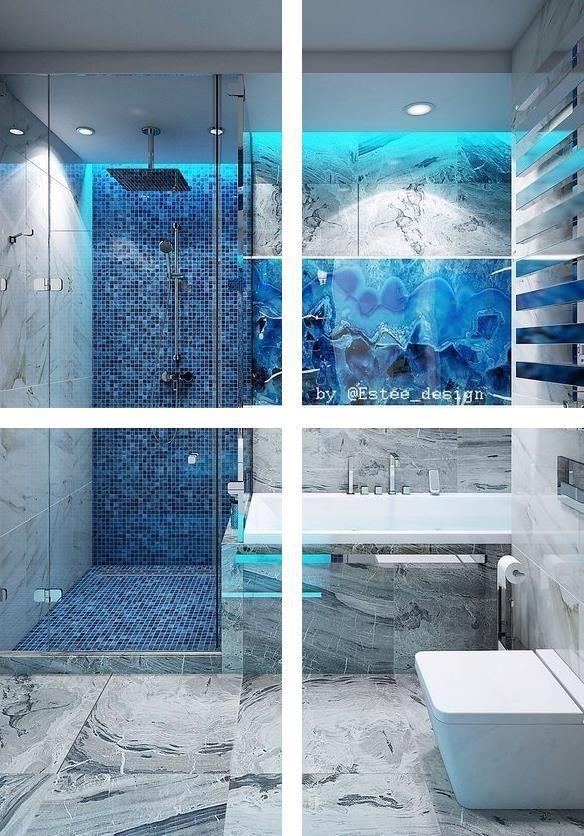 Buy Bathroom Accessories Complete Bathroom Decor Sets Blue