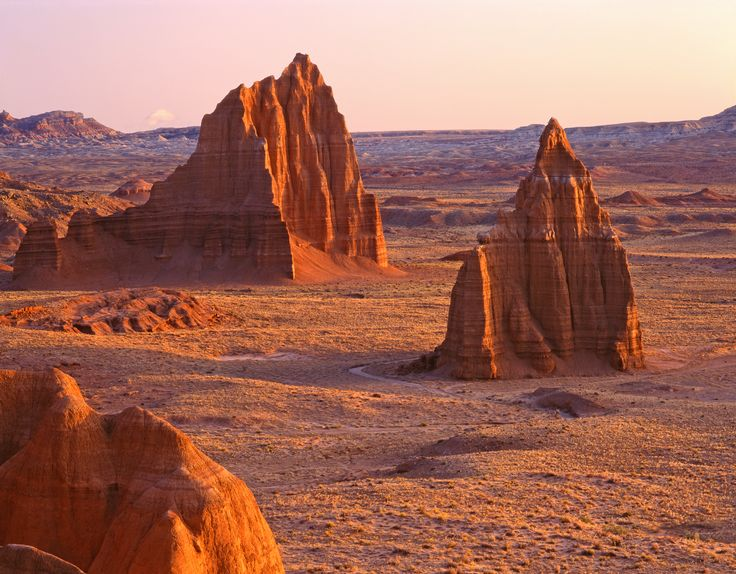 Temples of the Sun - Cathedral Valley - Capitol Reef National Park - Photograph by Tom Till