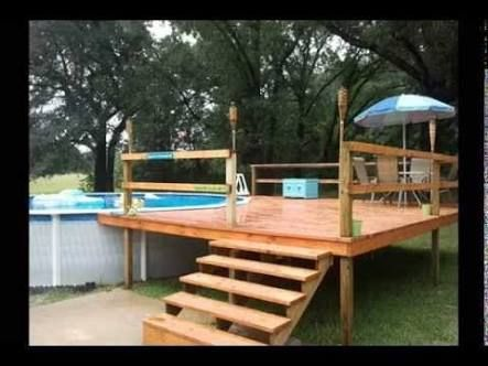 Pallet deck for above ground pool google search back for Above ground pool decks for small yards