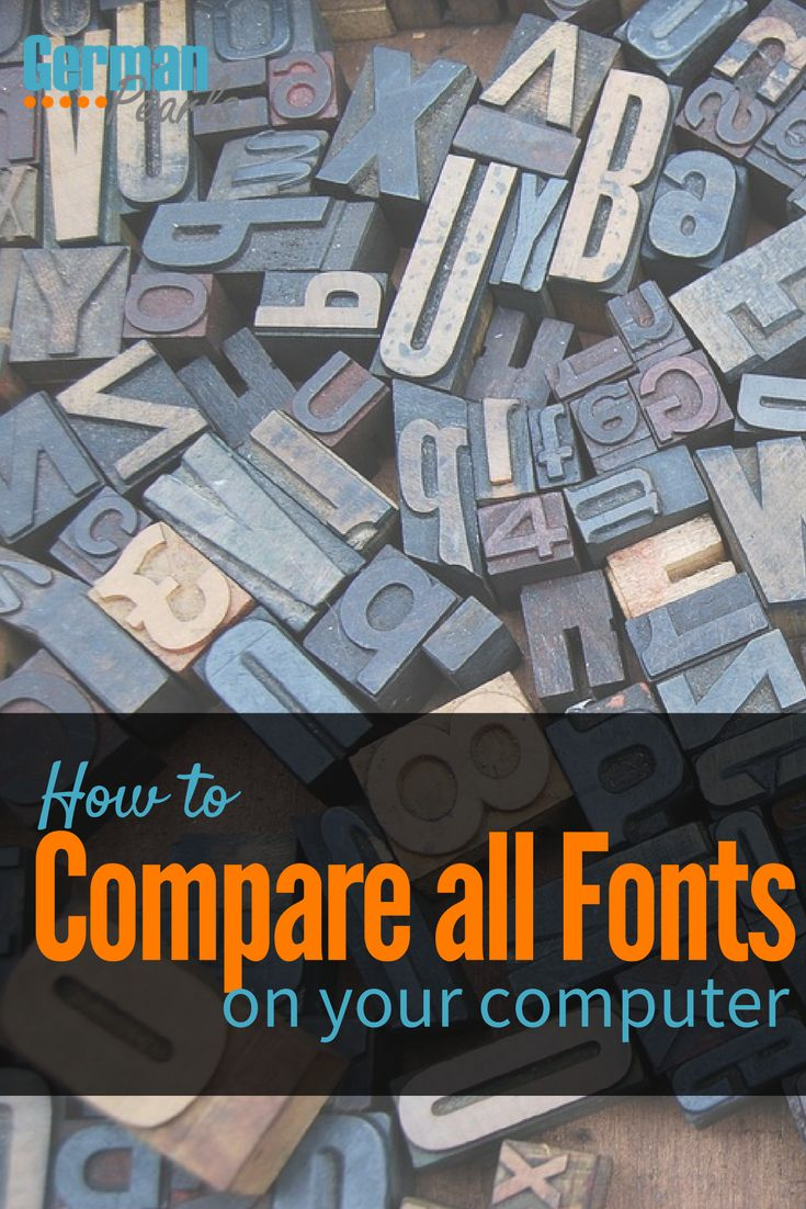 Free Online Font Viewer | How to Preview all the Fonts on your Computer | Font Viewer for Windows | Font Viewer for Mac via @GermanPearls