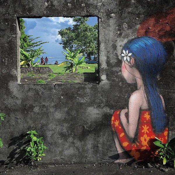 Living Canvas, Tahiti Nui - Street Art by Seth Globepainter