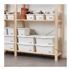 IKEA - SOCKERBIT, Box, Wenn man viele kleinere Boxen einsetzt statt alles in einer großen unterzubringen, hat man eine bessere Übersicht über alle Kleinteile.Mit zwei Feldern zum Anbringen von Etiketten für einfaches Markieren und schnelles Wiederfinden.