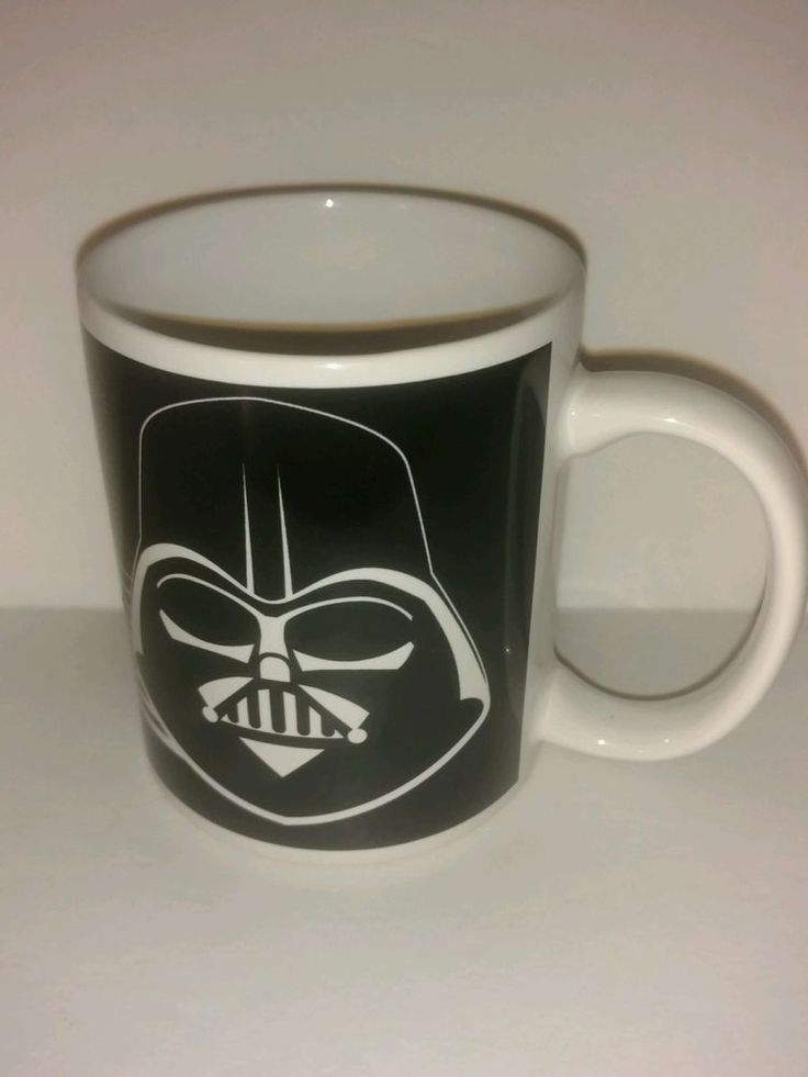 Black and white Darth Vader Star Wars Coffee Mug ZAK Designs New