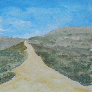 Duinen op Vlieland. For my English-speaking friends:view of the dunes of Vlieland, one of the isles in the north of the Netherlands, Acryl painting