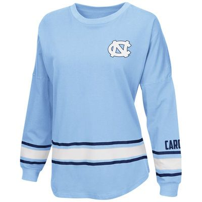 Women's Colosseum Carolina Blue North Carolina Tar Heels All Around Oversized Long Sleeve T-Shirt
