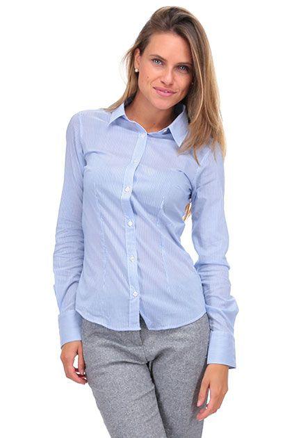 CamicettaSnob - Camicie - Abbigliamento - Camicia in cotone modello sfiancato…