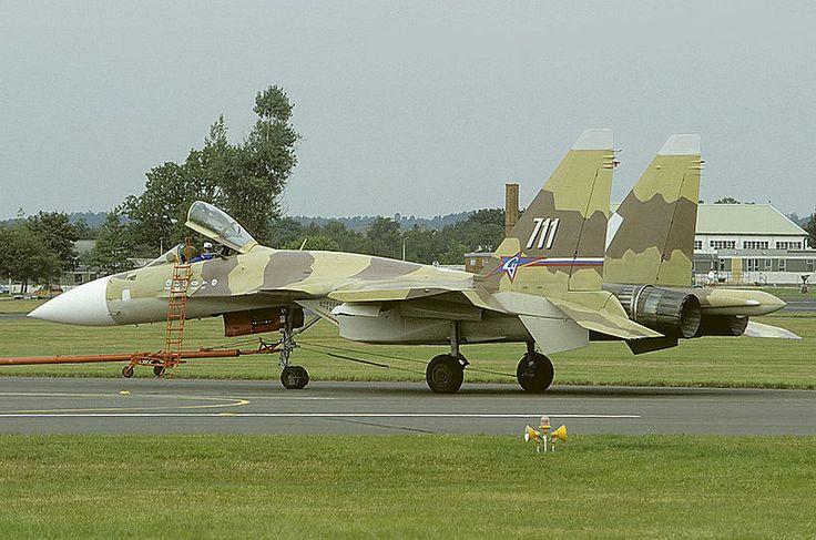 El Sukhoi Su-37 es un caza polivalente experimental, monoplaza y de gran maniobrabilidad, diseñado por la compañía rusa Sukhoi para investigar las posibilidades de mejoras y desarrollo de la serie de cazas pesados derivados del Su-27. Incorpora mejoras en el equipo de aviónica y en el sistema de control de tiro, pero la característica añadida más notable son las toberas de los motores con empuje vectorial.