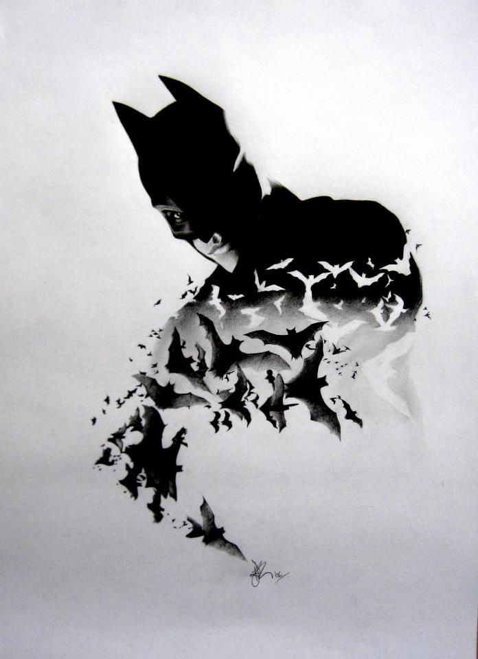 Cousins amazing pencil only batman drawing. - Imgur