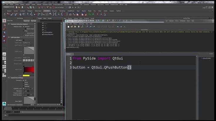 PySide UI Creation in Maya: Video One