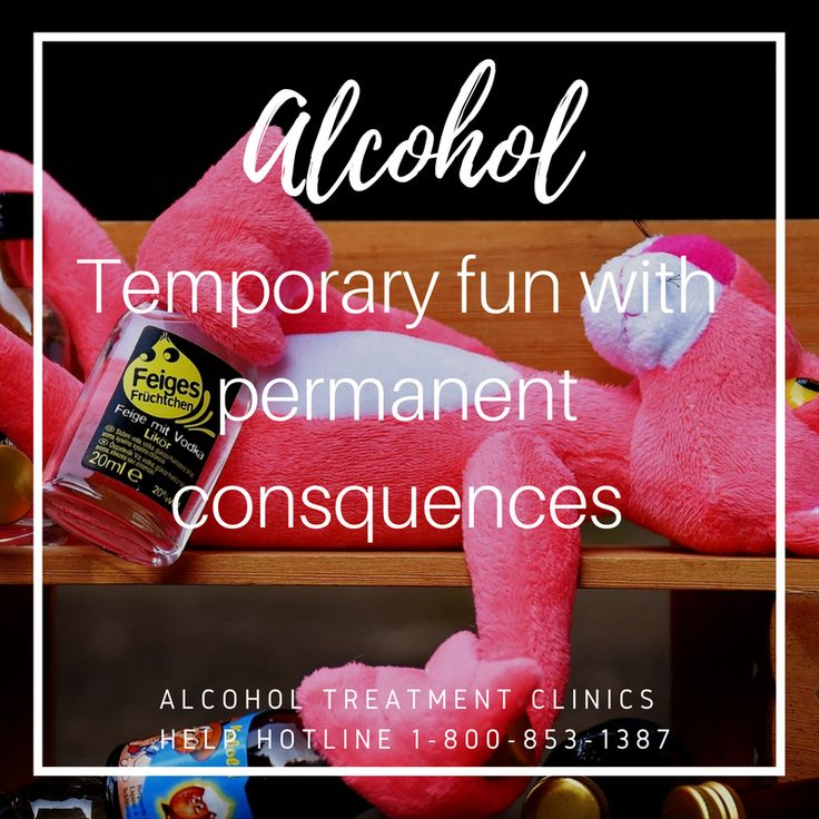 Alcohol Temporary Fun with Permanent Consequences  #Alcohol Treatment Clinics Help Hotline 1-800-853-1387