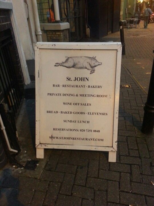 """St. John Bar and Restaurant.  Founded by chef Fergus Henderson, famed for his """"nose to tail"""" food philosophy."""
