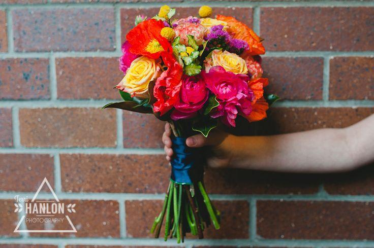 Vibrant pop of colour wedding bouquet #vibrant #weddingbouquet #WFML #francescasflowers