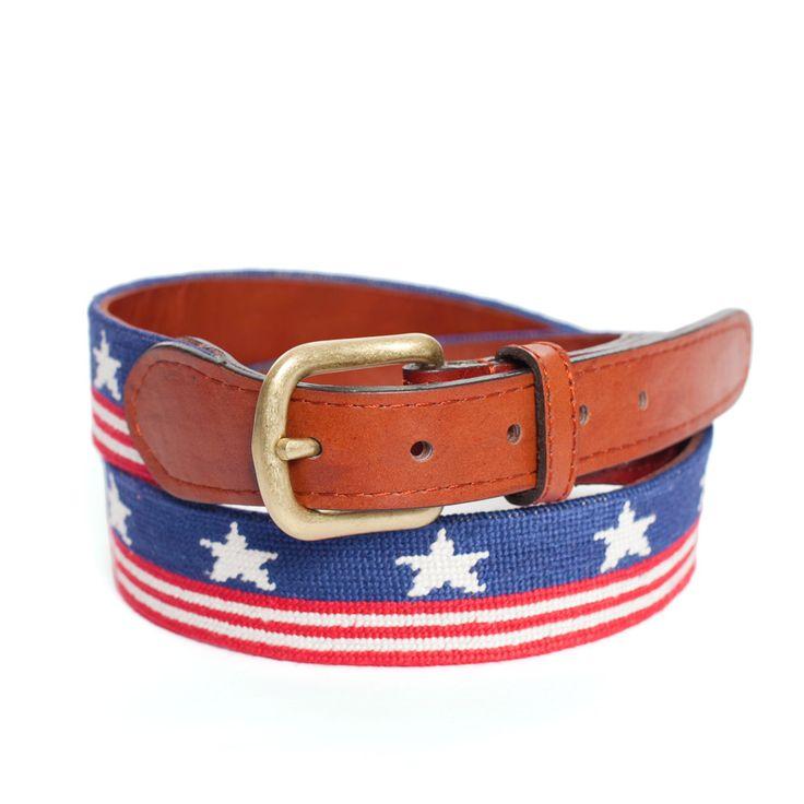 old glory needlepoint belt