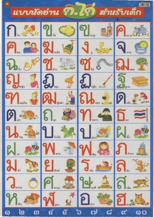 20 best Alphabets images on Pinterest Writing, Languages and Letters - thai alphabet chart